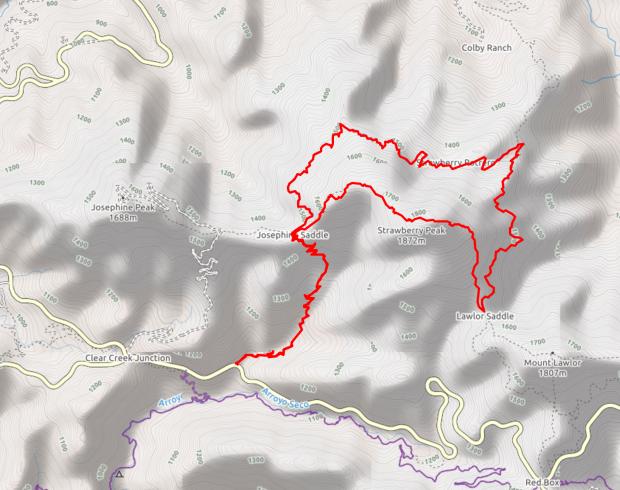 strawberry-peak-trail-map